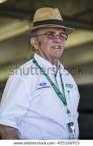Concord, NC - May 28, 2016: Jack Roush hangs out in the garage during practice for the Coca-Cola 600 at the Charlotte Motor Speedway in Concord, NC. - stock photo