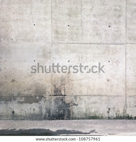 Concrete aged wall background, texture