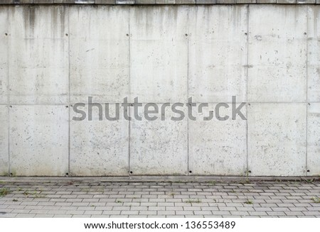 Concrete aged wall background, texture - stock photo