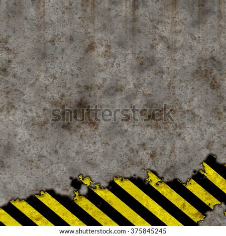 concrete background danger stripes
