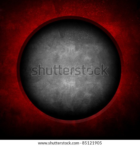 concrete background with hole - stock photo