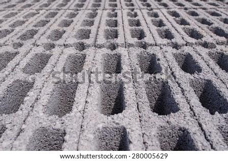 Concrete block - stock photo