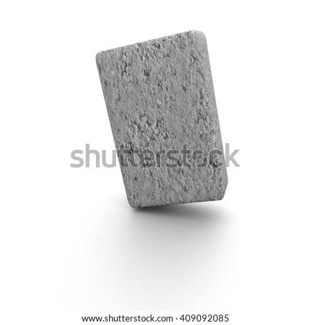 concrete block - 3D illustration - stock photo
