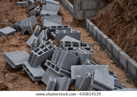 concrete block for construction,brick for wall building
