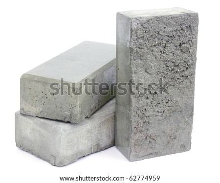 Concrete blocks for paving the sidewalk - stock photo