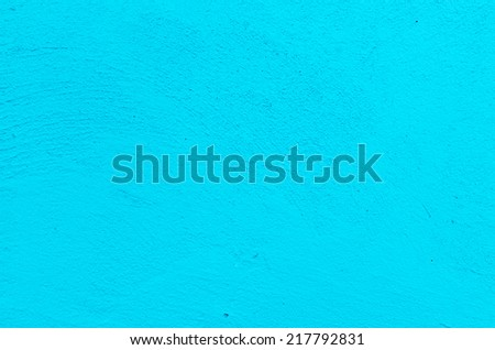 concrete blue wall texture grunge background , Blue plaster wall - stock photo