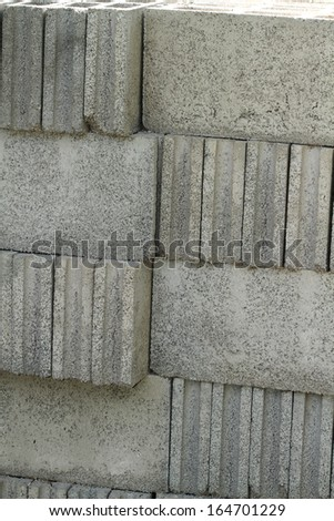 Concrete bricks - stock photo