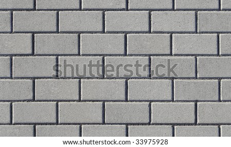 Concrete bricks. Block paving texture background. It tiles seamlessly in vertical & horizontal directions. Excellent texture for rendering - stock photo