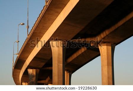 Concrete Bridge - stock photo