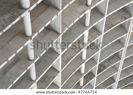 concrete building construction, may use as background - stock photo