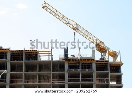 concrete building under construction