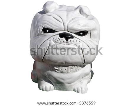 Concrete Bulldog - stock photo