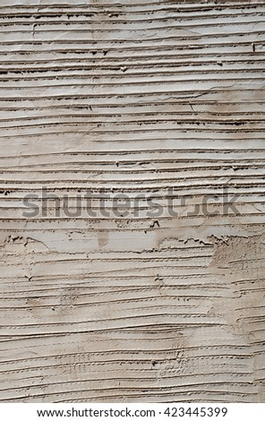 Concrete cement lines texture pattern close up. - stock photo