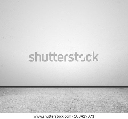 concrete floor and wall closeup - stock photo