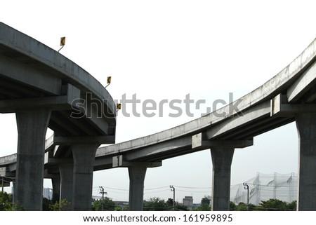 Concrete highway - stock photo