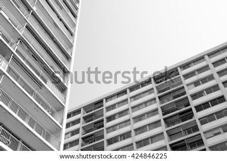 concrete houses - stock photo