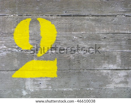 concrete number two - stock photo