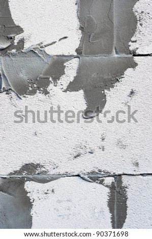 Concrete on wall