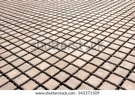concrete pavement, construction of urban areas