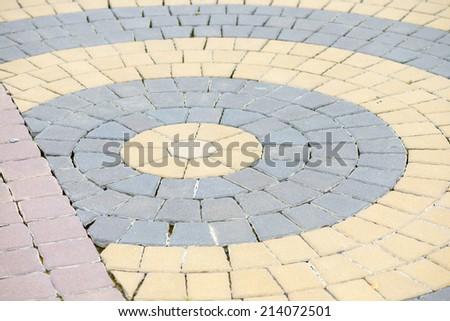 concrete pavings block pattern texture - stock photo