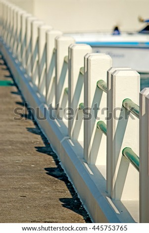 Concrete pole of bridge - stock photo