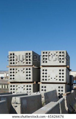 Concrete pressure vaults - stock photo