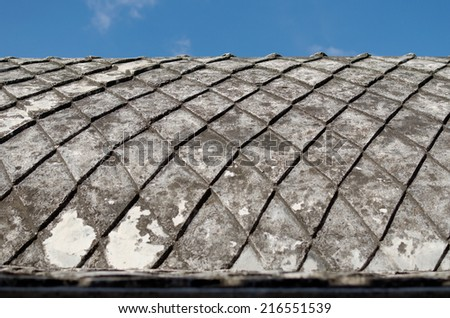 concrete roof at taman sari water castle - the royal garden of sultanate of jogjakarta - stock photo
