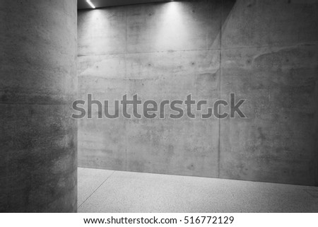Concrete room interior