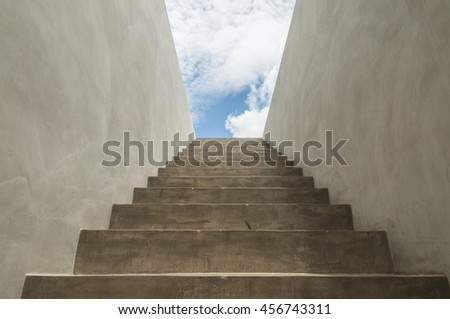 Concrete Stair to the sky background