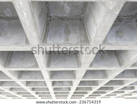 Concrete structure ceiling - stock photo