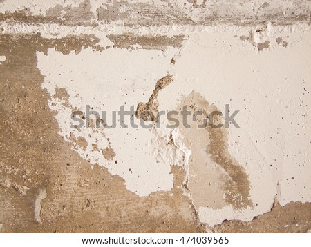 concrete surface with stains and brown shades