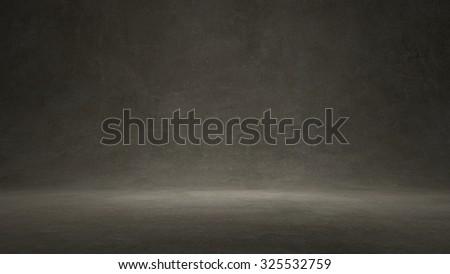Concrete texture wall background studio lighting - stock photo