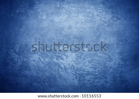 Concrete texture with cold blue light - stock photo