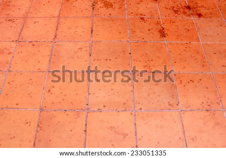 concrete tile pattern floor in the temple - stock photo