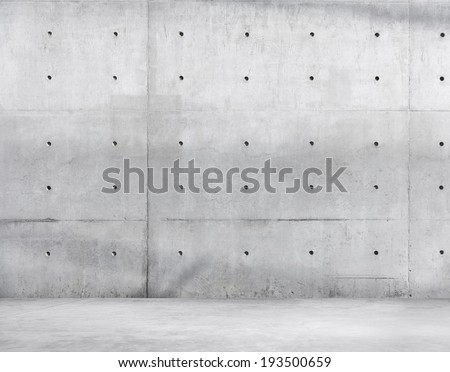 Concrete Wall and Cement Floor for Copy Space - stock photo