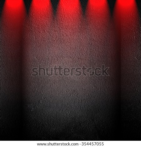 concrete wall with lighting background - stock photo