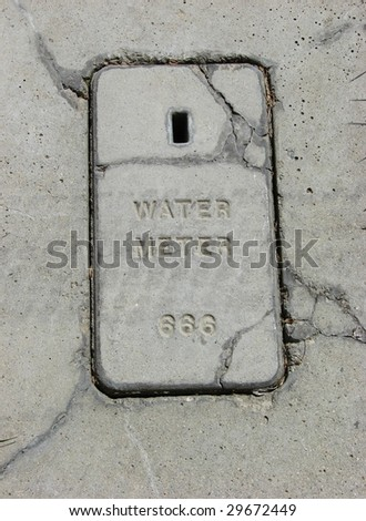 Concrete Water Meter Cover #666