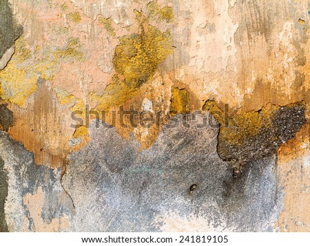 Concrete, weathered, worn. Landscape style. Grungy Concrete Surface. Great background or texture.  - stock photo