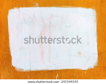 Concrete, weathered, worn, painted bright yellow and white colors, surface. Background for your concept or project  - stock photo