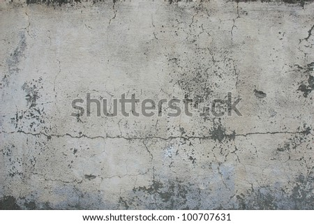 Concrete, weathered, worn, painted white. Landscape style./ Grungy Concrete Surface /  Great background or texture. - stock photo