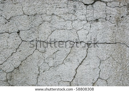 concrete with cracks