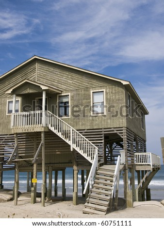 Condemned home on the Outer Banks in Nags Head North Carolina