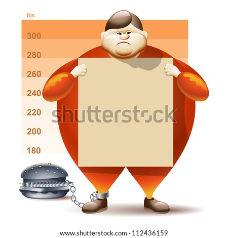 Condemned To Obesity - stock photo