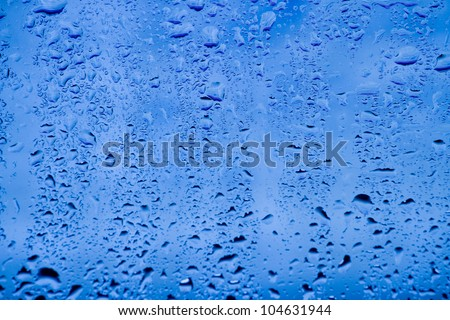 Condensation on the glass.