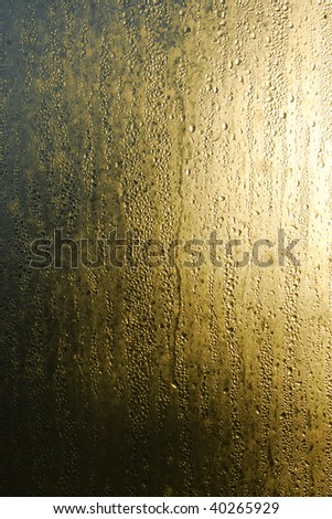Condensation on Window - stock photo