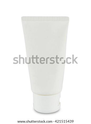 conditioner bottle isolated on white background - stock photo