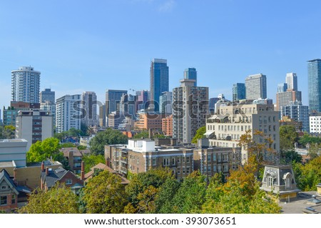 Condo buildings in downtown Toronto. - stock photo