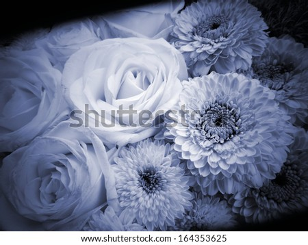 condolences background flowers - stock photo