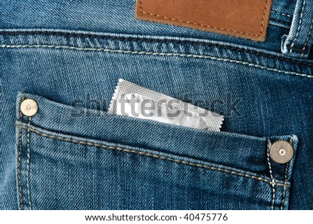 Condom in a back pocket
