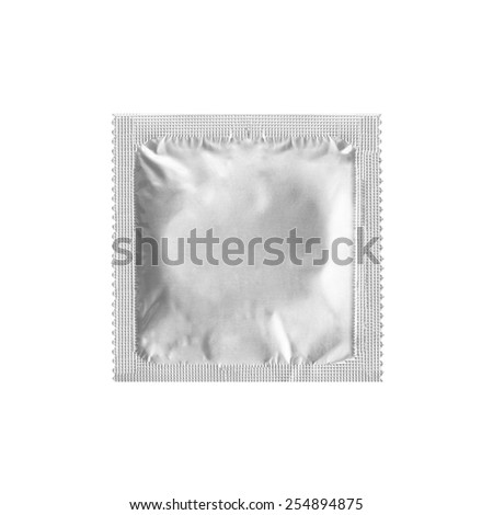 condom isolated on white background - stock photo